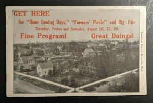 Mint Vintage Fair Advertising Residence District Escanaba Michigan RPPC