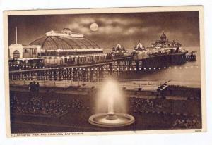 Pier & fountain at night,Eastbourne,UK,PU-1955