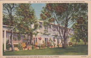 California Santa Monica Mountains Will Rogers Ranch House 1937