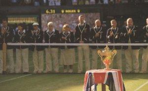 Wimbledon Tennis Championships Single Mens Sports Trophy Postcard
