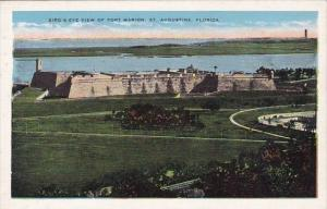 Florida Saint Augustine Bird's Eyey View Of Fort Marion