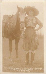 RP: Female Rodeo Star Prairie Rose , CHEYENNE , Wyoming , 1910s