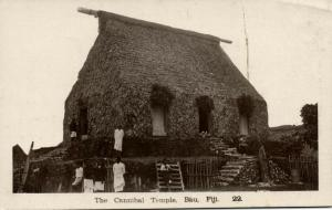 fiji islands, BAU, The Cannibal Temple (1910s) RPPC