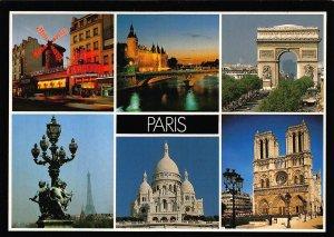 France Paris Les Monuments Basilica Mill Arch Palace Postcard