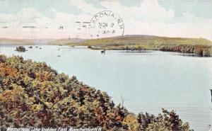 EAST MANCHESTER NEW HAMPSHIRE~MASSABESIC LAKE LOOKING EAST~POSTCARD 1906 PSTMK