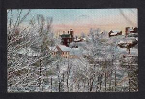 ME Winter Scene Snow ROCKPORT MAINE Vintage Postcard Carte Postale PC