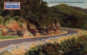 Oklahoma Beauty Spot Along One Of Oklahoma's Highways