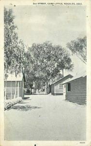 Camp Little 2nd Street roadside Nogales Arizona 1920s Postcard Teich 3391