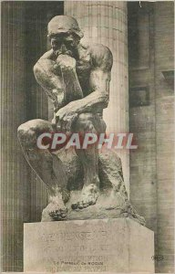 Old Postcard The Thinker by Rodin
