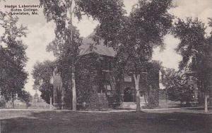 Maine Lewiston Hedge Laboratory Bates College Albertype