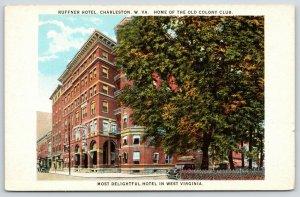 Charleston WV~Ruffner Hotel~Busy Clerk Forwarding Postcard~Fill In Blank~1920s