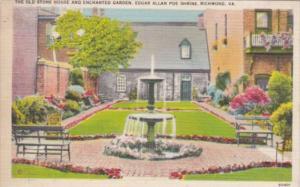 Virginia Richmond The Old Stone House and Enchanted Garden Edgar Allen Poe Sh...