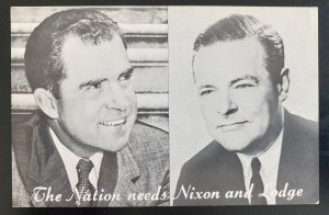Mint USA Real Picture Postcard Political Nations Needs Nixon & Lodge