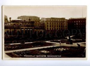 173685 UK MANCHESTER Piccadilly Gardens Vintage photo postcard