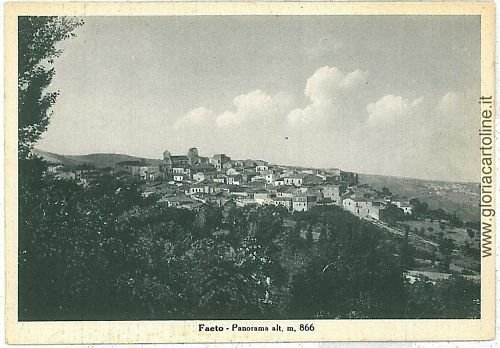 07874 - CARTOLINA d'Epoca - FOGGIA: FAETO