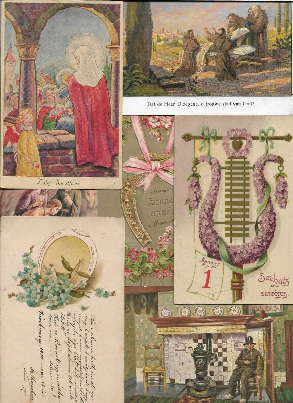 Artist Signed Fantasy and More Antique Postcard Lot of 30  01.15