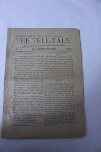 Vintage 1897 The Tell Tale Weekly Journal Paper Holly, MI 16 Pages