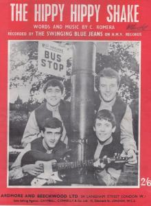 Hippy Hippy Shake The Swinging Blue Jeans 1950s Sheet Music