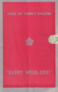 Happy Week-End by Dion Titheradge Duke Of Yorks Theatre Programme