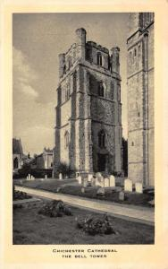 Tucks 1939 Vintage Postcard CHICHESTER Cathedral The Bell Tower