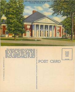 Hall of Springs, Saratoga Spa, Saratoga Springs, New York, Linen