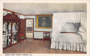 Green Room, Mount Vernon, Virginia, early postcard, unused