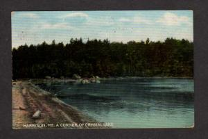 ME Vintage view Crystal Lake Harrison Maine Postcard PC Carte Postale