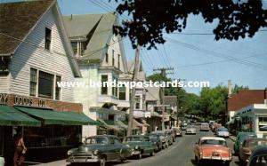Vineyard Haven, Mass., Main Street looking North, Cars (1959)