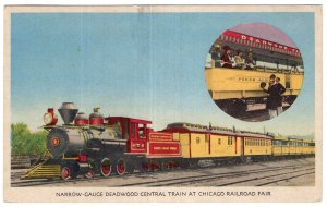 Narrow Gauge Deadwood Central Train At Chicago Railroad Fair