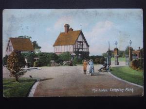 Staffordshire Stoke LONGTON PARK The Lodge c1907 Postcard by W. Shaw