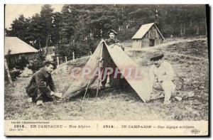 Old Postcard Militaria Alpine Hunters