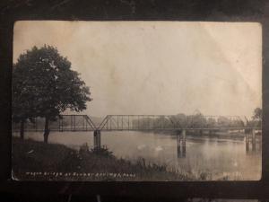 Mint USA RPPC Postcard Wagon Bridge Bonner Springs KS