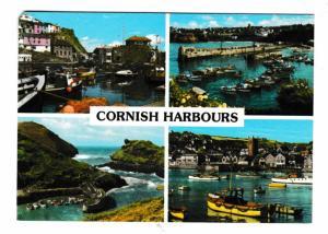 Postcard Cornwall Cornish Harbours 4 views