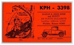 QSL Radio Card From Wichita Kansas KPH - 3398