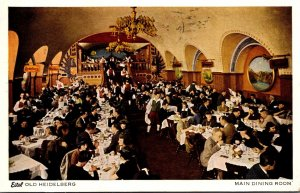 Illinois Chicago Eitel Old Heidelberg Restaurant Main Dining Room 1939