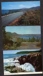 ME Lot 3 Acadia National Park Pk Mt Desert Island Maine Postcards Carte Postale