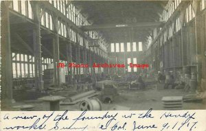CA, Sunnyvale, California, RPPC, Joshua Hendy Iron Works, Interior View, 1907