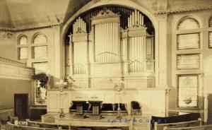 1934 Boston Massachusetts Real Photo Postcard: Interior, Christian Science Mothe