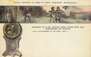 MINNEAPOLIS, Minnesota, 1900-10s; Hotel Radisson, Lobby Mural # 4