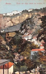 Spain Old Vintage Antique Post Card Vista del Tajo desde un molino Ronda Unused