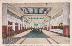 Missouri Saint Louis The Famous Lobby Of The Marquette Hotel
