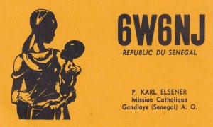 Catholic Mission Gandiay Senegal QSL Radio Card