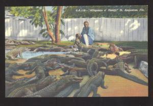 ST. AUGUSTINE FLORIDA ALLIGATOR FARM BLACK AMERICANA BLACK BOY POSTCARD