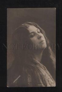 076187 LIPKOVSKAYA Russian OPERA Star LONG HAIR vintage PHOTO