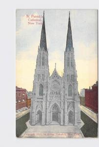 ANTIQUE POSTCARD NEW YORK CITY ST. PATRICK'S CATHEDRAL EXTERIOR