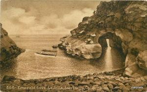 C-1910 Emerald Cove La Jolla San Diego California Mitchell postcard  1833
