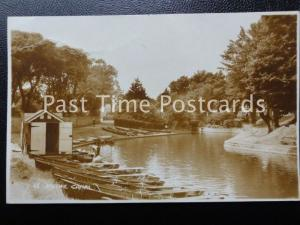 c1941 RPPC - Hythe Canal - showing rowing boats moored etc
