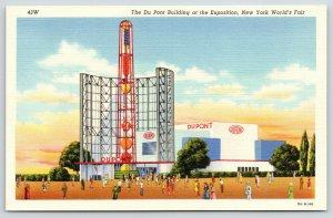 New York City~1939 World's Fair~ART DECO Du Pont Building~Chemistry Tower~Linen