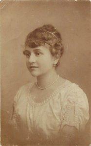 Photo postcard Romania dated Cojocna 1920 woman portrait coiffure