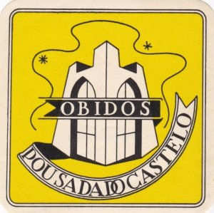 Portugal Obidos Pousadado Castelo Vintage Luggage Label lbl0539